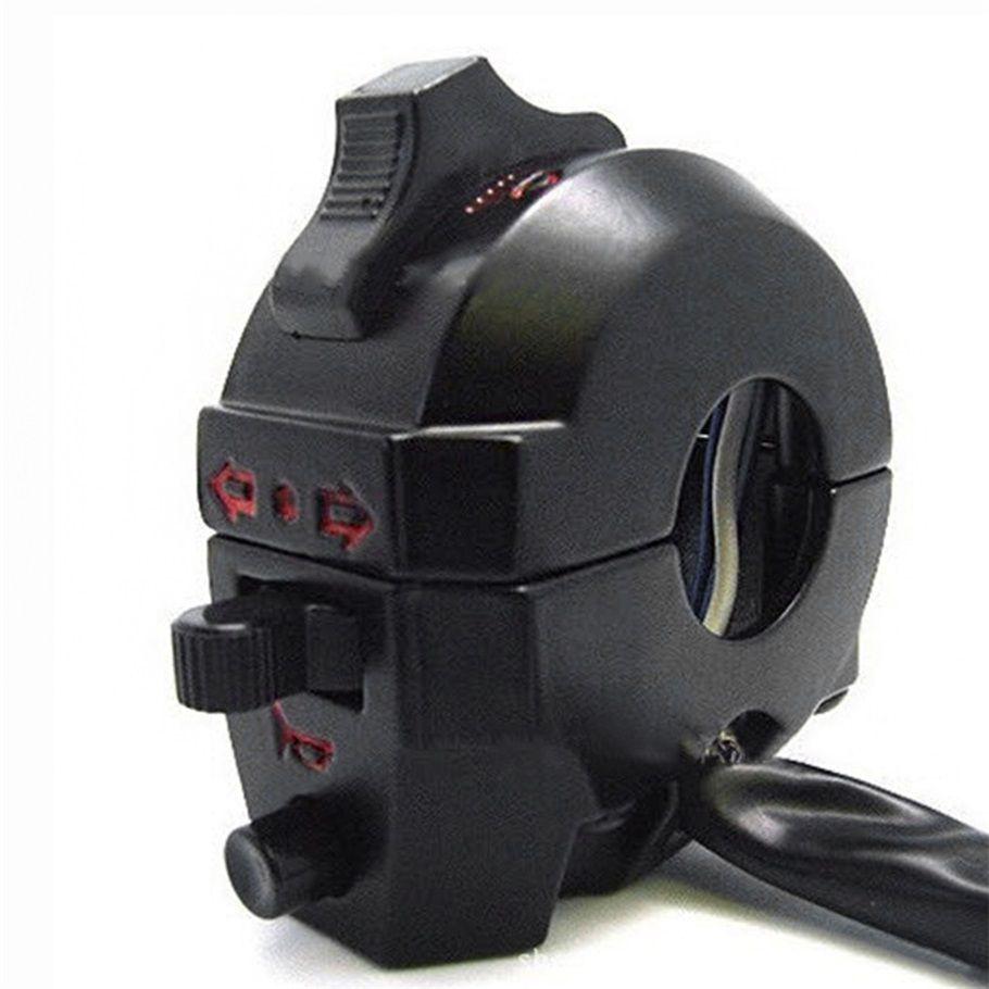 1Piece Universal Handlebar Left ATV Motorcycle Control High/Low Beam Light Turn Signal Horn Switch 7/8