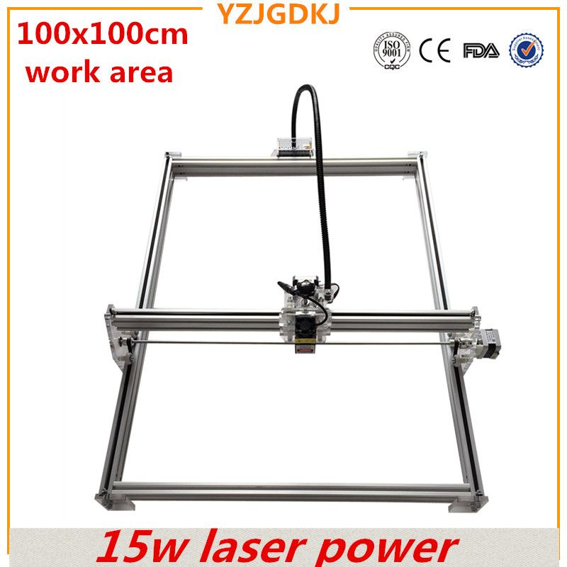 diy mini laser engraving machine ,15w laser cutter metal marking machine support english software work size 1*1m laser engraver
