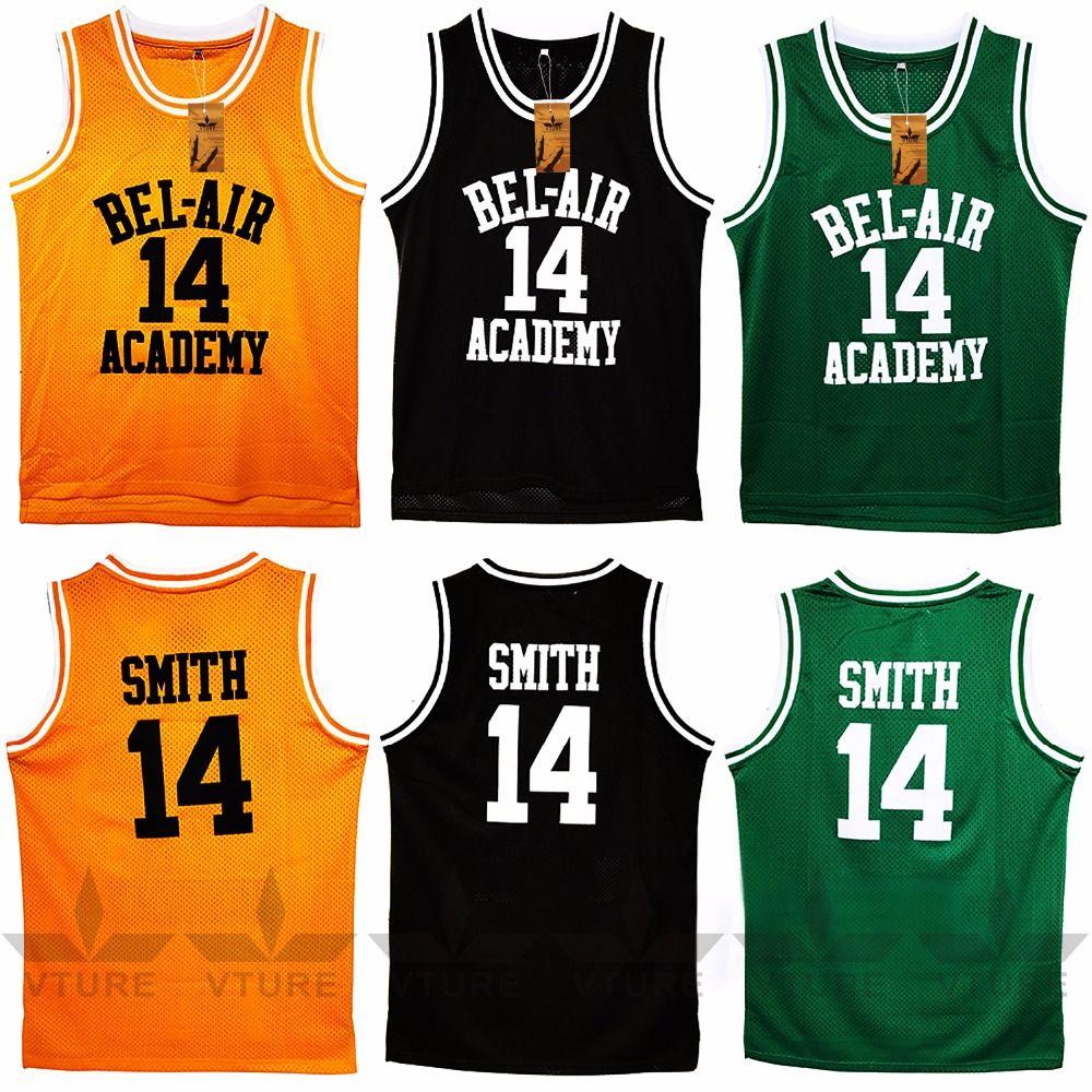 Vture Баскетбол Футболки Уилл Смит #14 Bel Air Академии Майки спортивные