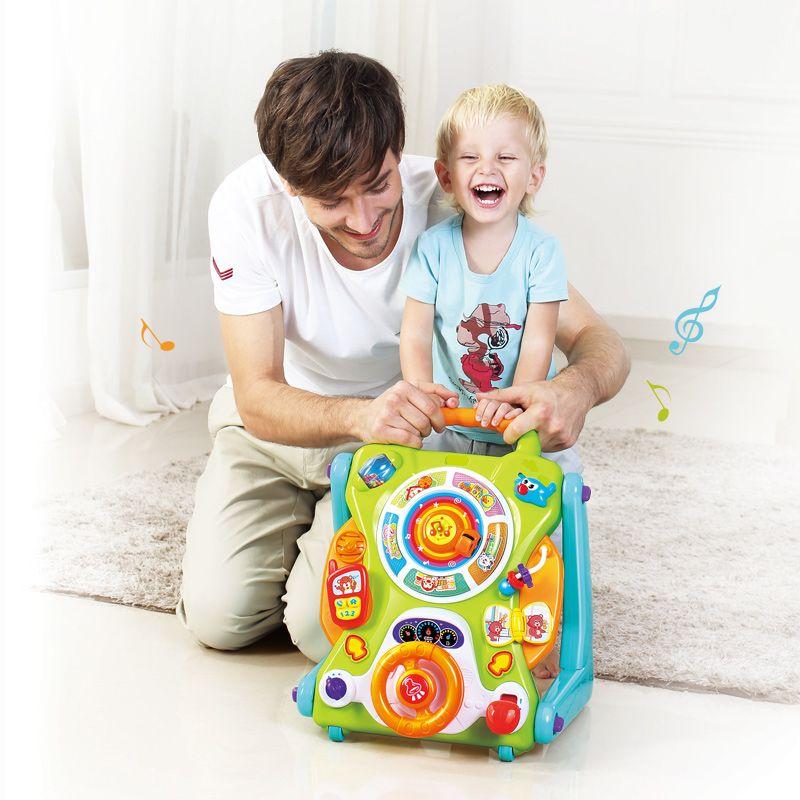 HUILE JOUETS 2107 Nouveau Apprentissage Walker Pour Enfants 9 Mois Up Jouets Musicaux Bébé Marcheur Poussette activité roue bébé marcheur sécurité