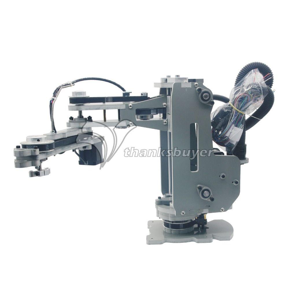 SCARA Robot Mechanical Arm Hand Manipulator 4 Axis Stepper Motor Assembled