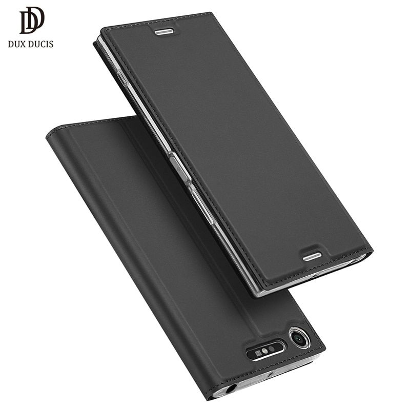DUX DUCIS Luxury Flip Leather Case For Sony Xperia XZ1 Case F8341 Dual Sim F8342 Protective Stand Cover For Sony XZ1 Phone Cases
