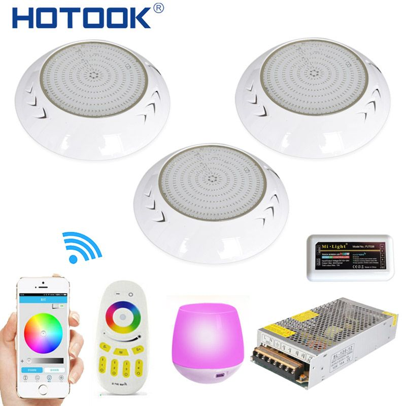 HOTOOK Underwater Lights Wifi LED Pool Light RGB 2.4G Kit Resin Filled Foco PAR56 Piscina Lamp With Timer Dimmer App Controlled