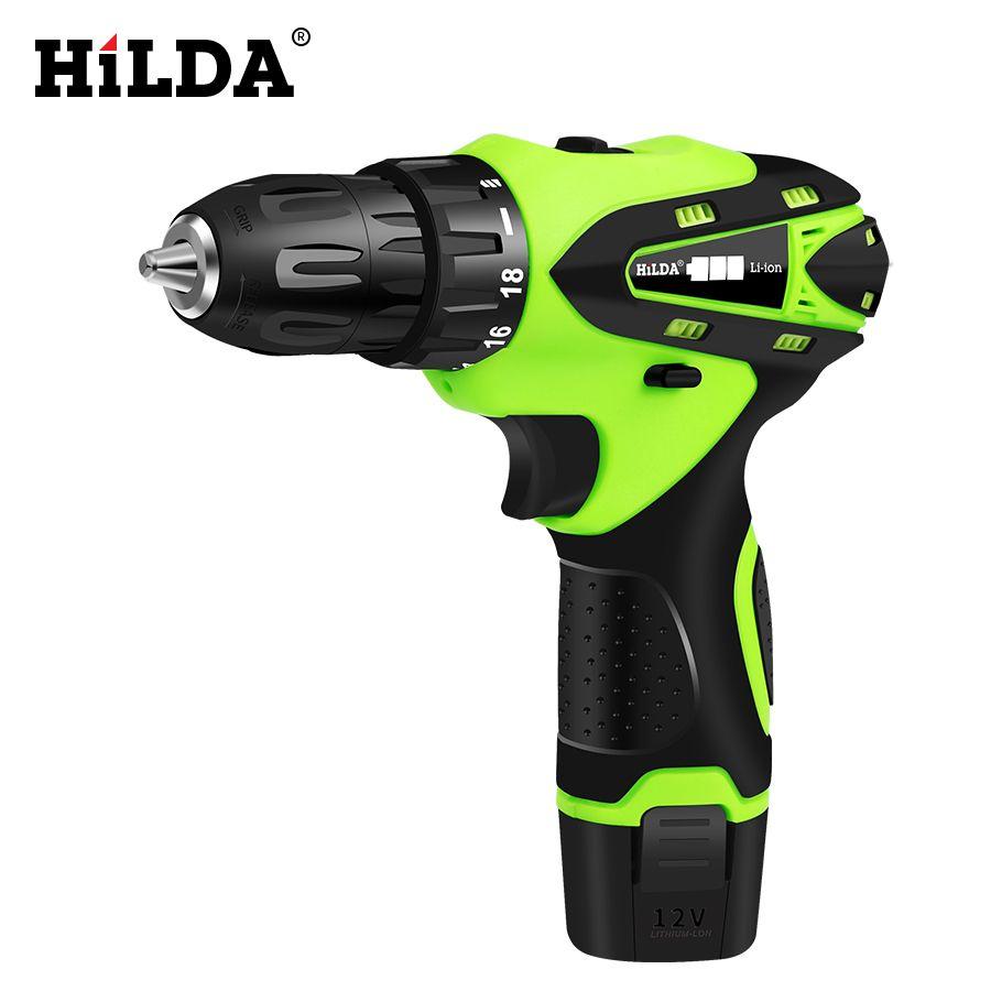 HILDA 12 V tournevis électrique batterie au Lithium Rechargeable Parafusadeira Furadeira multi-fonction sans fil perceuse électrique