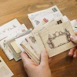 60 pcs/ensemble Vintage Petit Mini Kraft Papier Fenêtre Enveloppes d'invitation de mariage enveloppe cadeau enveloppe Ancien 73*95mm