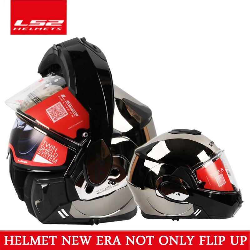 2017 neue Tapfere LS2 FF399 volle gesicht motorradhelm flip up dual visier authentische brille tragen design ECE cascos de moto helm