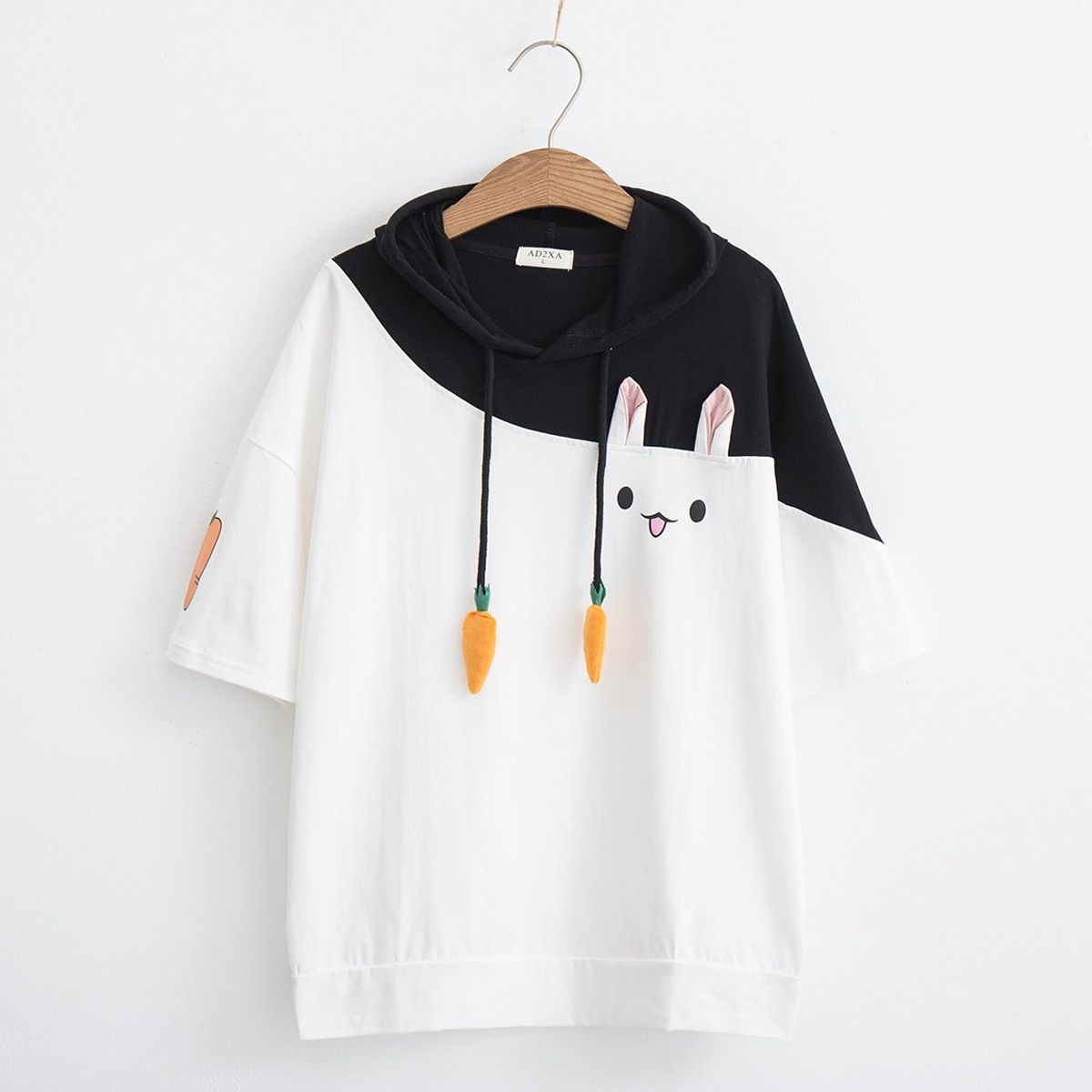 Japanese Summer Soft Sister Female T Shirts Cute Fashion Short Sleeve Bandage Anime Bunny Tee Tops Mori Girl Kawaii T Shirt