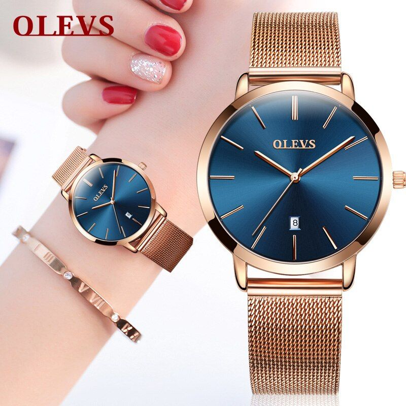 Women watches rose gold 2018 brand luxury Watch Lovers Couple Wrist watches for men and women Colck Casual Japanese movement NEW
