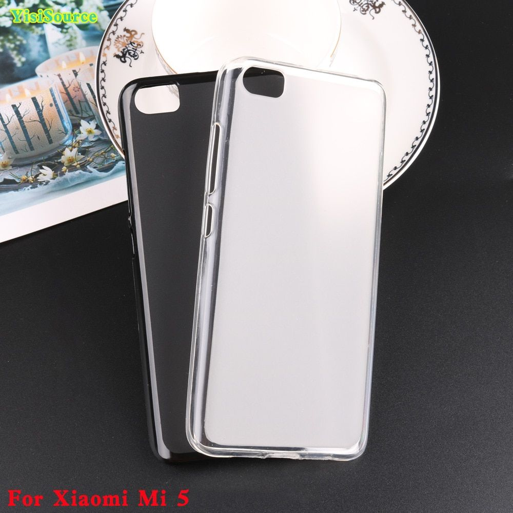 Yisisource New Case for Xiaomi Mi5 Soft Silicone Case Screen Protector Matte Case Back Cover for Xiaomi Mi5 Cell Phone Bag Case