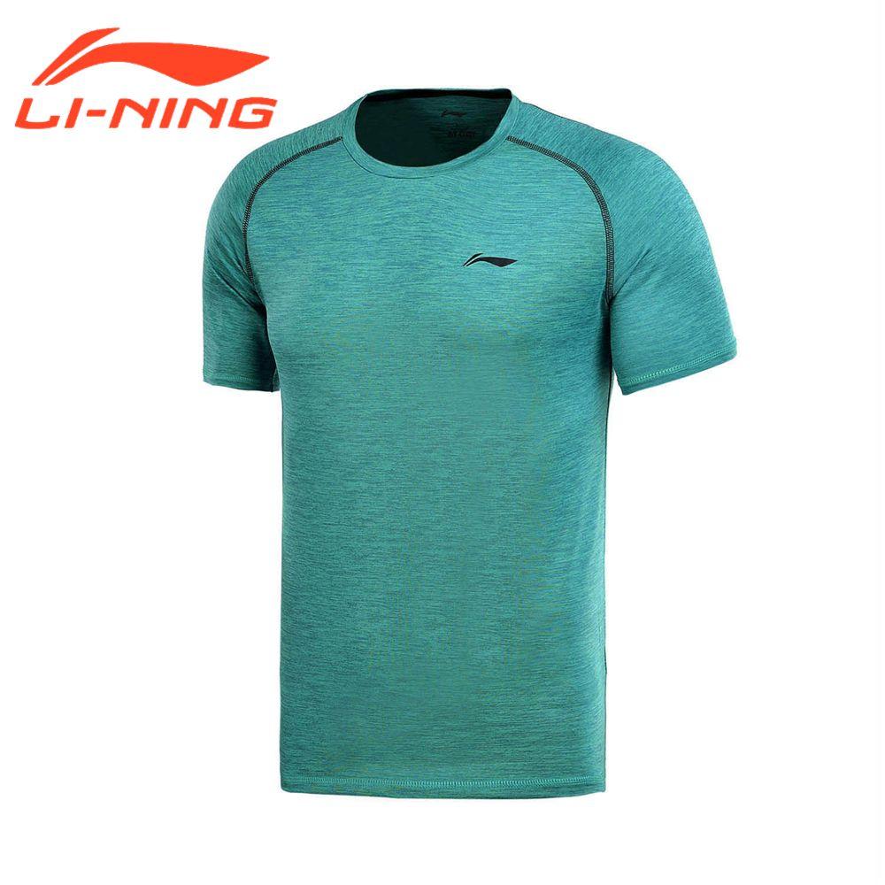 Li-Ning Brand Men Running T-Shirts Gym Training Outdoor Sports Tees Soft Breathable Clothings Li-Ning ATSM145