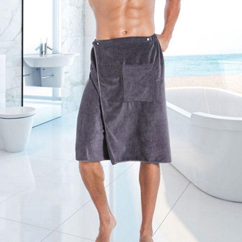 Vente chaude nouvelle mode homme portable magique microfibre serviette de bain avec poche douce natation plage serviette de bain