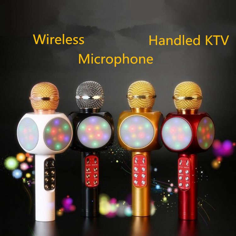 Magic WS1816 Wireless Bluetooth Karaoke Microphone Speaker Portable Handheld KTV Mic Music Speaker Machine Singing Hosting KTV