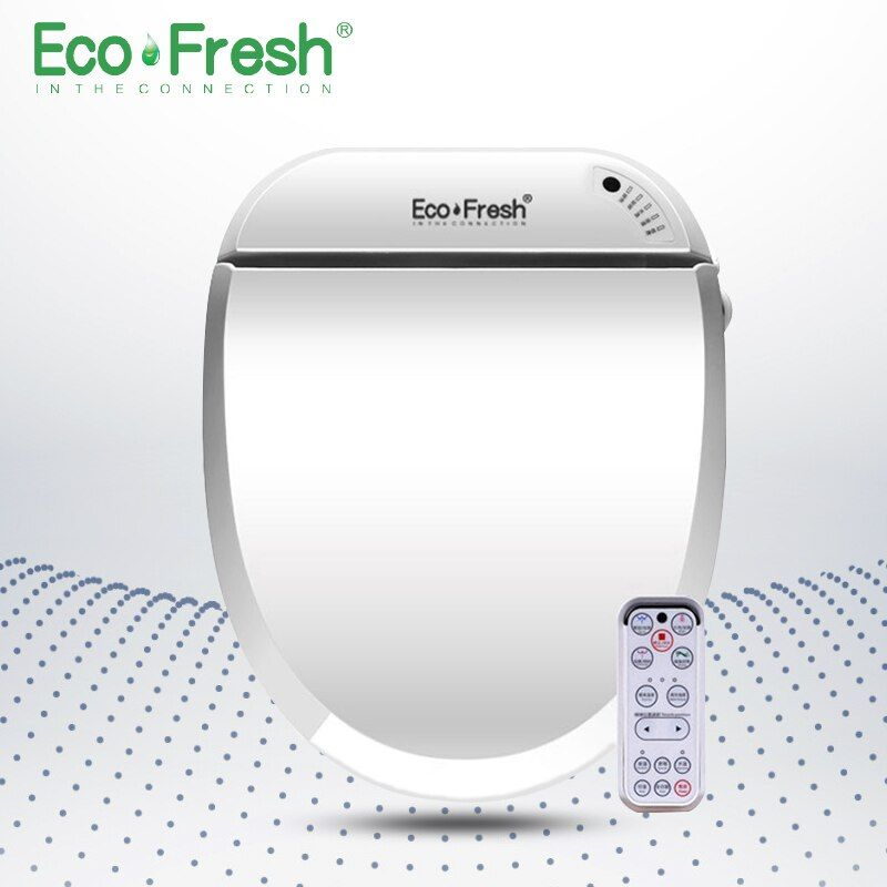 EcoFresh Smart toilet seat Washlet Electric Bidet cover intelligent bidet heat clean dry Massage care for child woman the old