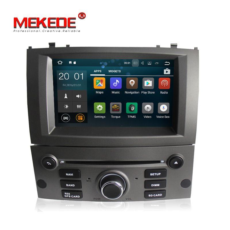 Großhandel! MEKEDE PX3 RK3188 Reine Android 7.1 Quad Core Auto GPS DVD player für Peugeot 407 2004-2010 unterstützung 4g wifi BT radio