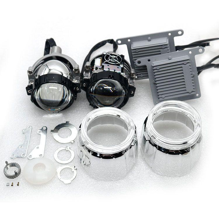 HD Lens 2pcs Car LED Headlight H7 H4 35W 4800lm 5500K High Low Beam Car-styling Bi LED Projector Lens Headlight car led light