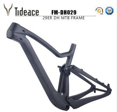 2018 new 29er Full Suspension MTB Bicycle Carbon 29er full suspension frame 142*12 Thru Axle disc brake Mountain frame