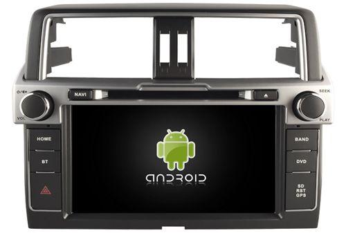 Navirider car dvd player multimedia autoradio android8.1 wifi screen gps navigation for Toyota Prado LC150 2014 FM tape recorder