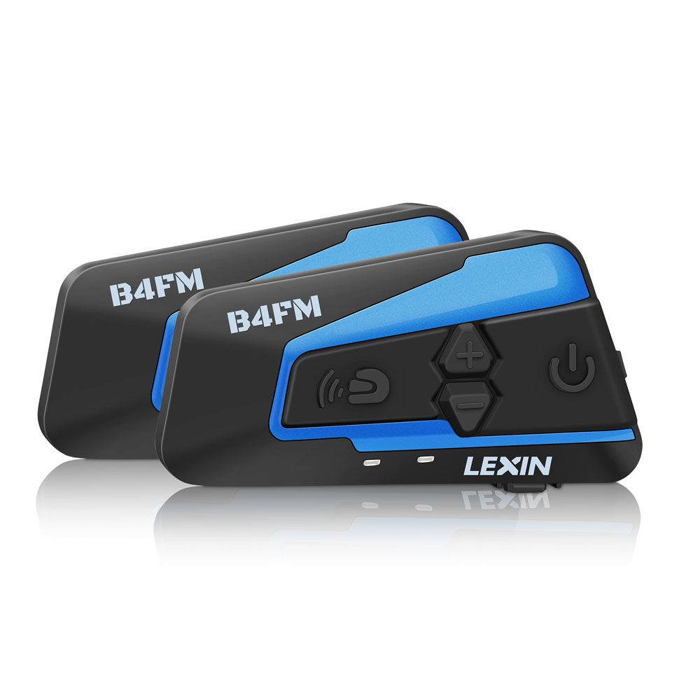 <font><b>2PCS</b></font> Lexin 4 Way Motobike, Motorcycle Bluetooth Helmet Headsets Intercom, FM BT intercomunicador earphones MP3 interfone