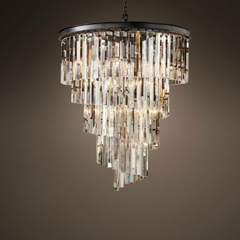 led e14 Vintage America Iron Crystal LED Lamp LED Light.Pendant Lights.Pendant Lamp.Pendant light For Dinning Room