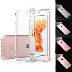 Super anti-knock a prueba de golpes transparente suave caso para iPhone 7 para iPhone 6x8 6 s más silicona cubierta del teléfono celular de lujo Carcasas