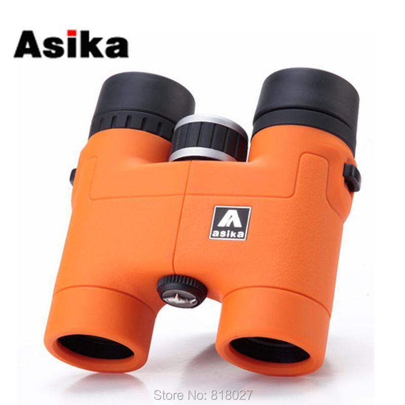 Original Asika 8x32 Binoculars telescope HD high quality telescopio binoculo BAK4 prism Roof Prism Fully Multi-Coated 4 colors