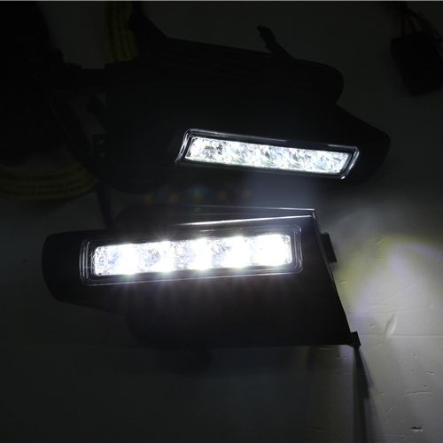 LED Daytime Running Light for Toyota Prado 120 LC120 GRJ120 Land cruiser 2003~2009 Fog lamp drl bumper light