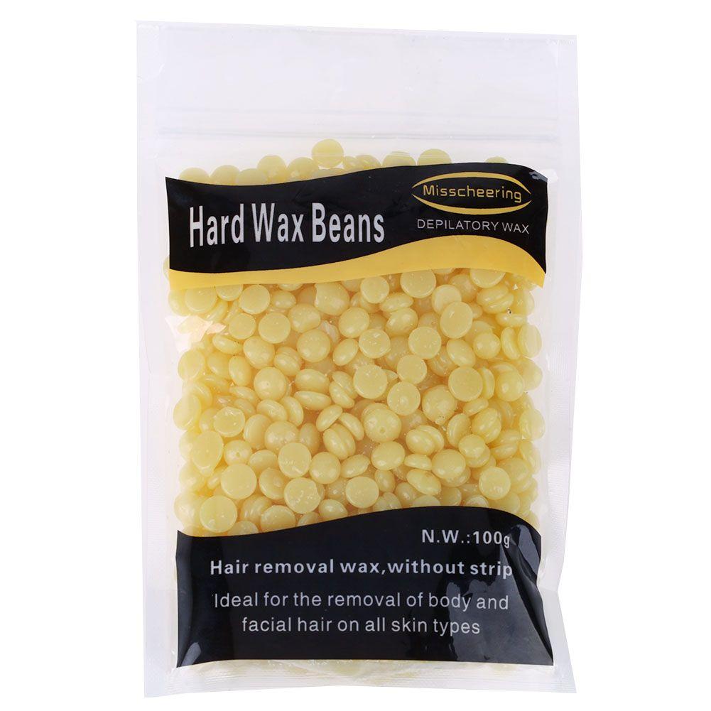 1 bag 100g Honey taste Depilatory Wax Pellet Brazilian Hot Film Pellet Waxing Bikini Hair Removal Bean for male or female
