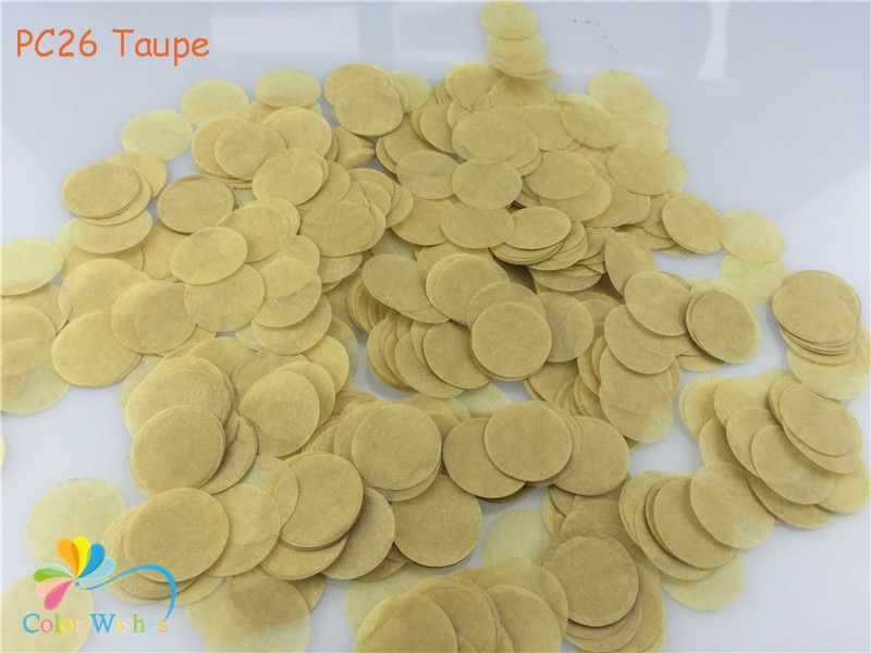 1 kg/lot 1 pouces = 2.5 cm Taupe Ronde Tissus de Papier de Partie D'obtention Du Diplôme de Confettis De Table De Mariage Décorations