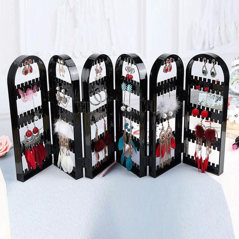 Bijoux Organisateur Plastiques Boucle D'oreille De Stockage Portes Conception Nice Bijoux Suspendus Titulaire Rack Acryliques Bijoux Présentoir Boucles D'oreilles