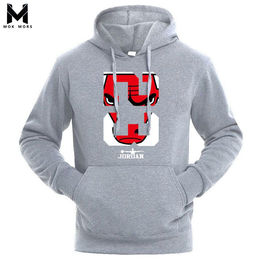 2018 Brand New Men Hoodies Sweatshirt Solid Color Print Trend Cotton Pullover Coat Mens Clothes Hip-Hop Male Factory Outlet