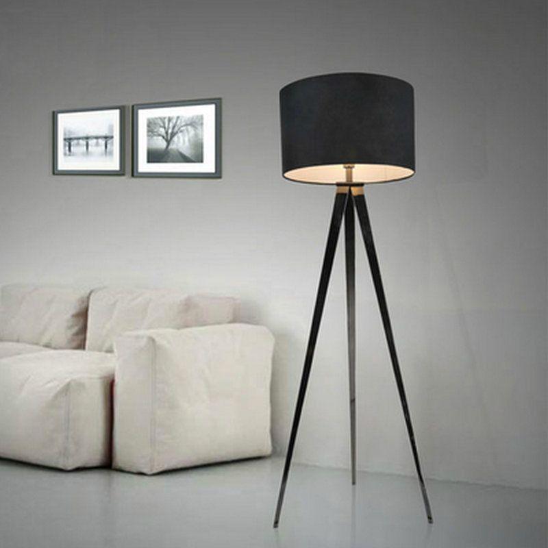 Lámpara de pie sencilla personalidad de la moda creativa moderna sala de estar dormitorio estudio lámpara de pie trípode de iluminación