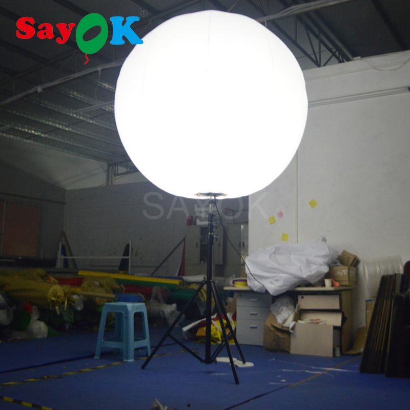 Hot Sale Inflatable Stand Tripod Balloon with Halogen Light or RGB Light for Event Advertising