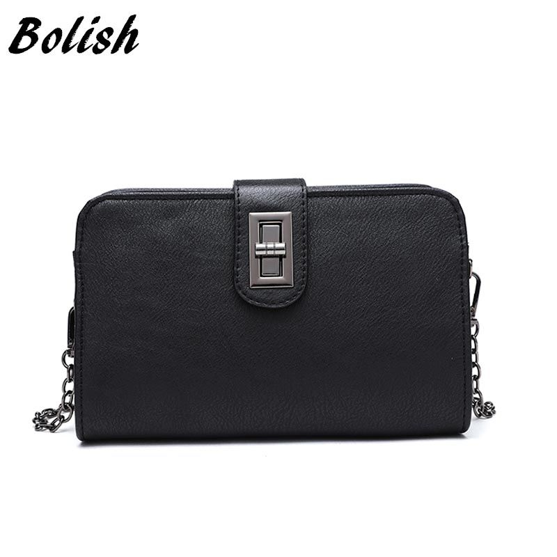 Bolish Female Causal Dames Tassen Lady Vintage Leather Crossbody Bags Classic Designer High Quality Shoulder Bags for Women