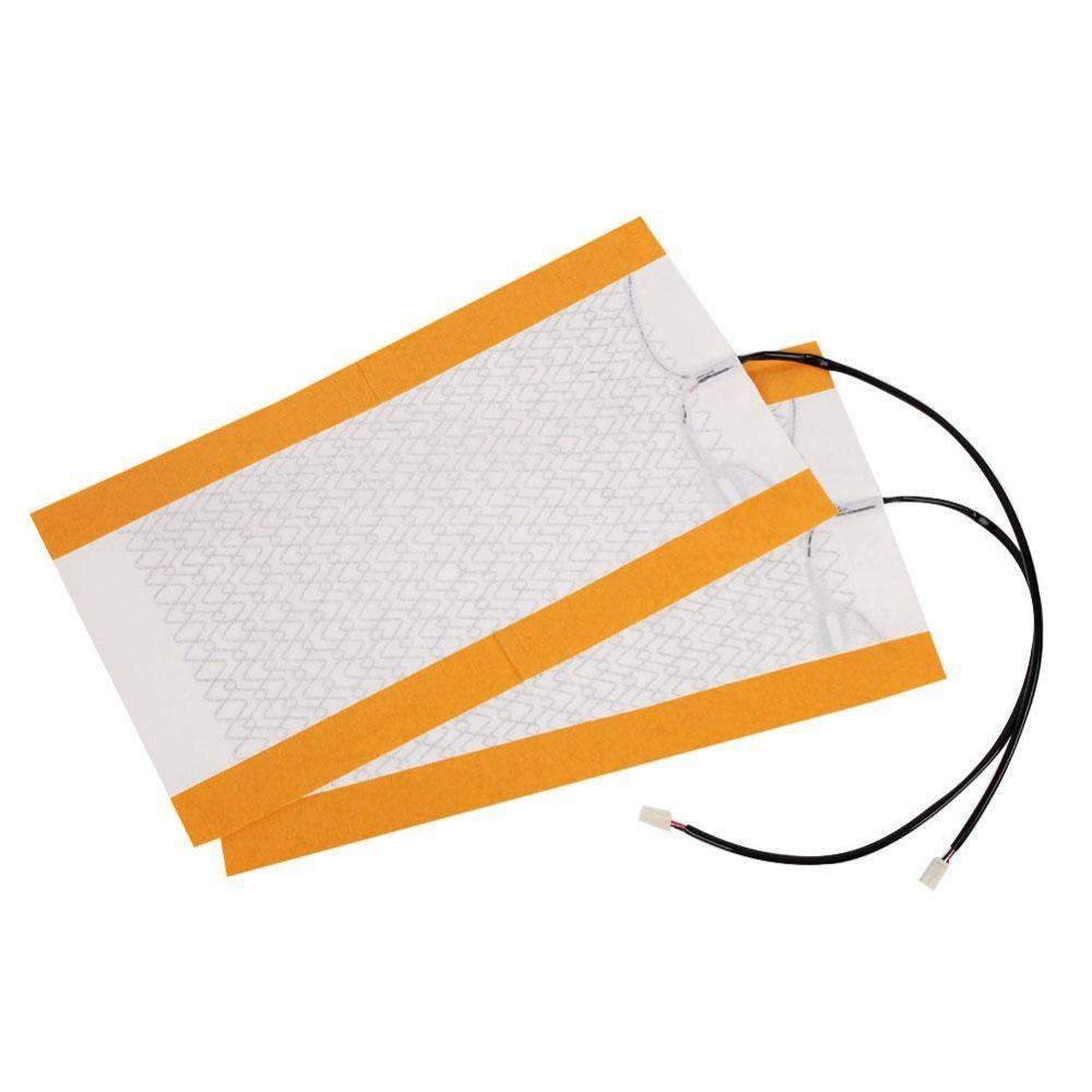 2Pcs Carbon Fiber Heating pads Seat Pad Cushion Cover car seat heater pads Heating pad