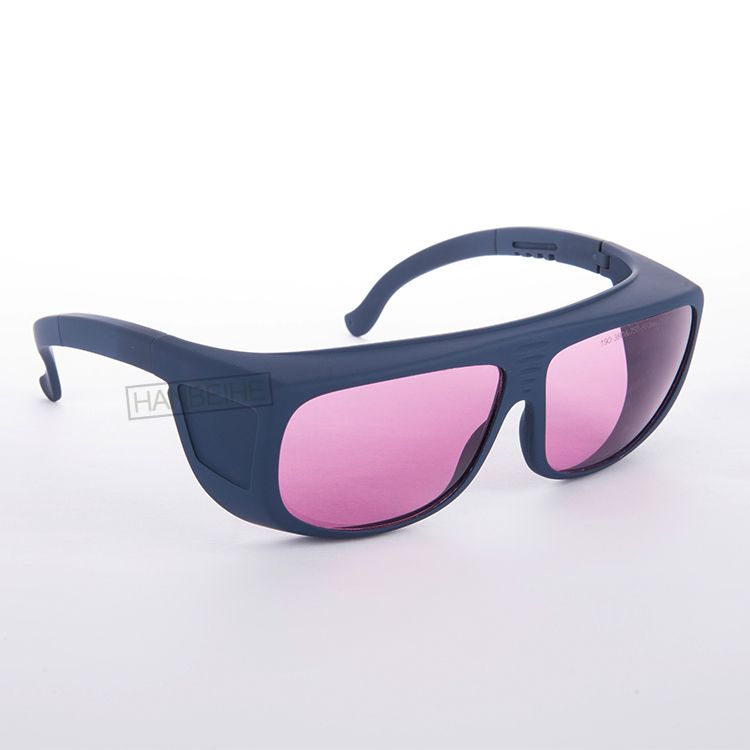 755nm 808 810 820 830 850nm laser safety goggles with o.d 4+ ce certified big frame over normal glasses