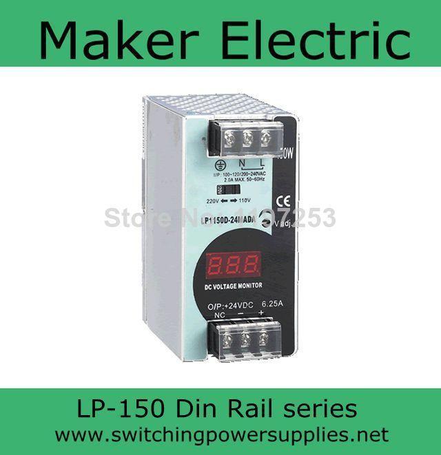 150 W 24 V 10A puissance din rail 24 LP-150-24 6.25A alimentation à découpage