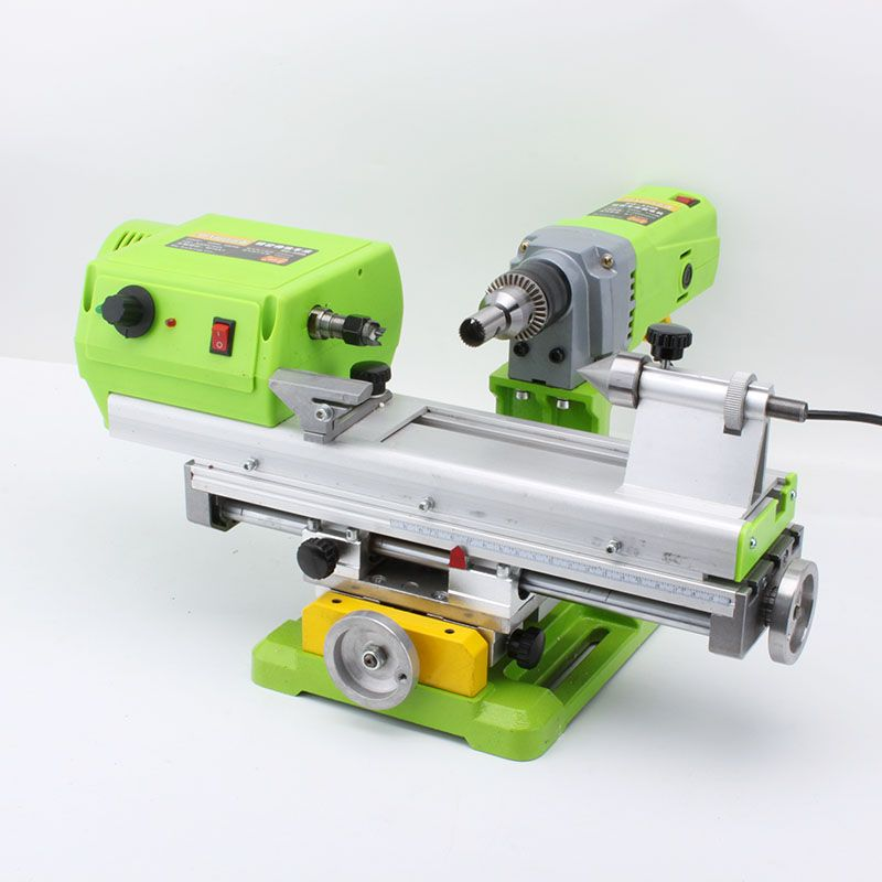 Beads Making Machine Small DIY Woodworking Bench Drill Micro-Polished Barrel Bead Ball Lathe