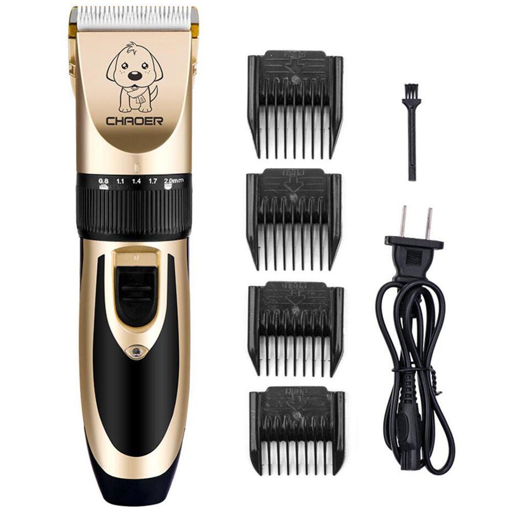 P60 Recargable Cat Dog Hair Trimmer Grooming Kit profesional de Bajo Ruido Eléctrico Pet Hair Clipper Máquina de Afeitar Set Máquina de Corte de pelo