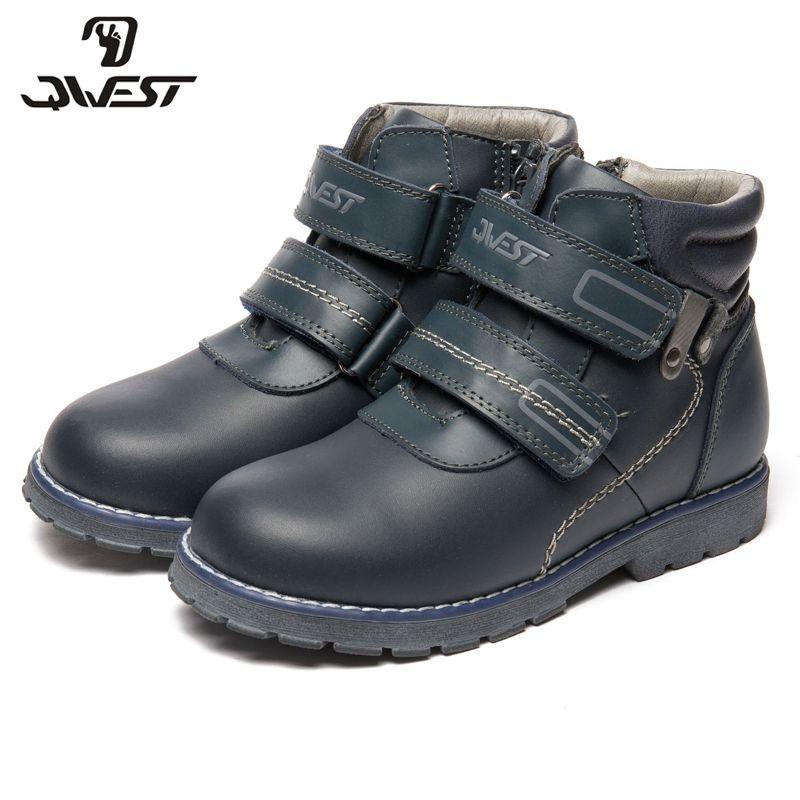 QWEST (durch FLAMINGO) herbst/winter warm Halten Boot Hohe Qualität Spitze-Up Anti-slip Kinder Schuh für Jungen Freies verschiffen 82B-XY-1015