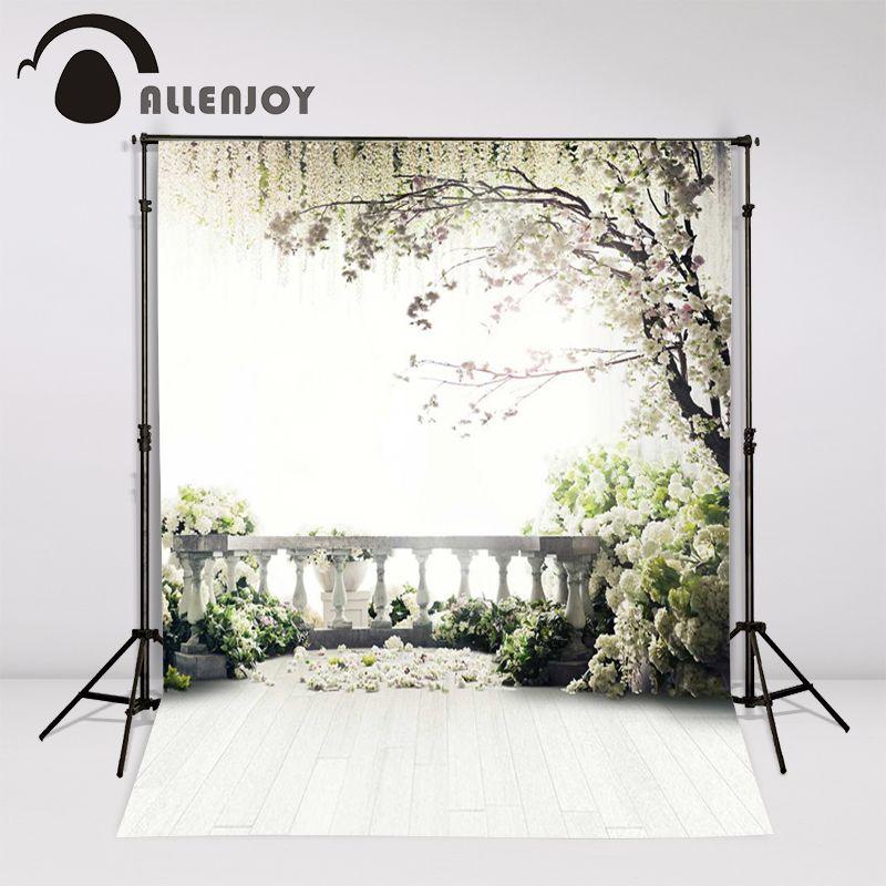 Allenjoy 300x200 см (6.5ftx10ft) Цветы фото Задний план деревья чердак сада свадебные фотографии фонов студии фотографии интерьера