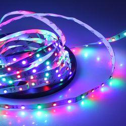 Led Strip Lights 12V Flexible LED Tape No Waterproof Strips led strips 5m/roll rgb led strip No 12v power supply luci natale