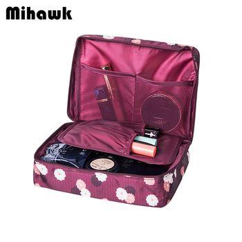 Mihawk Esthéticienne Vanité Necessaire Voyage Femmes Voyage de Toilette Wash Soutien-Gorge Sous-Vêtements Maquillage Cas Cosmétique Sac Organisateur Accessoires