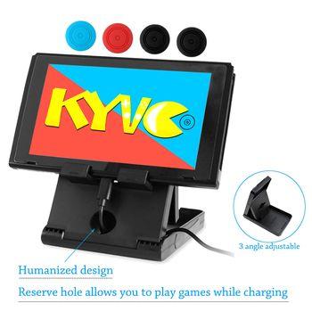 Nintend Schalter Einstellbar Faltbare Kompakte Halterung Playstand Stehen Halter für Nintendo Schalter NS Konsole Controller & 4 Kappe