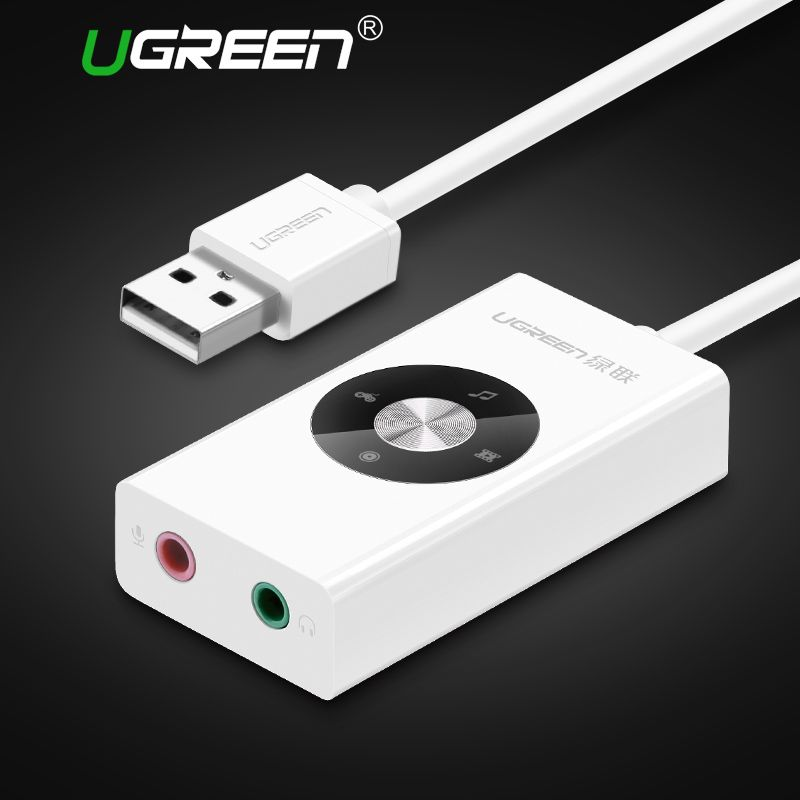 Ugreen External Sound Card HiFi 4 Models USB to Earphone Headphone 3.5mm USB Adapter Audio Card for <font><b>Laptop</b></font> Computer Sound Card