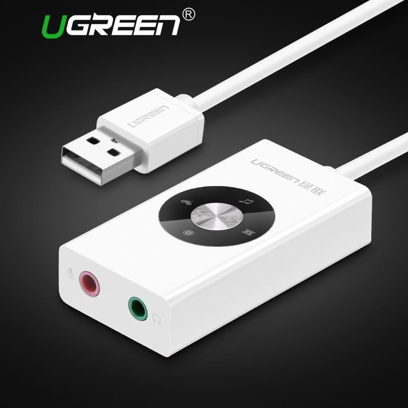 Ugreen External Sound Card HiFi 4 Models USB to Earphone Headphone 3.5mm USB Adapter Audio Card for Laptop Computer Sound Card