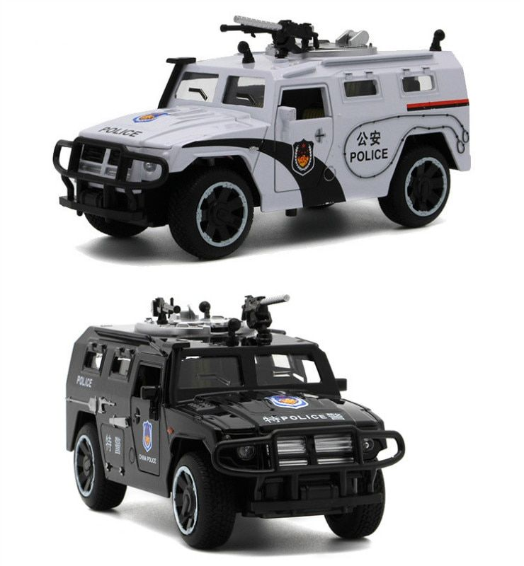 Sheriff's Chariots Oyuncak Araba 1:32 5doors Can Be Opened's Diecast Metal Car Boy Acousto-optic Model Alloy Car Toy