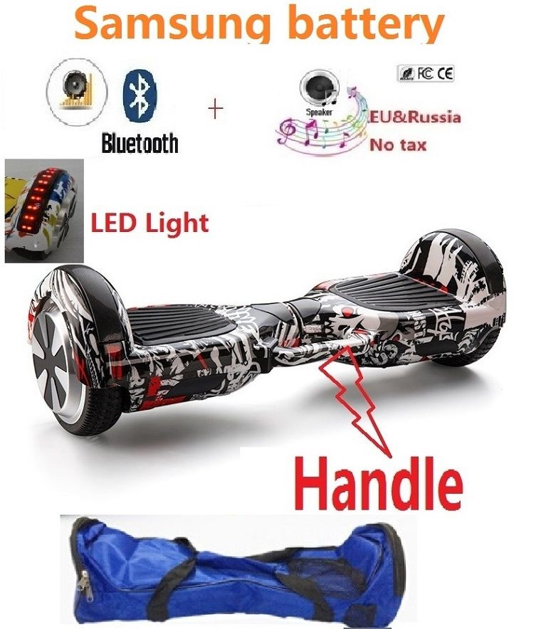 6.5 inch Adult Electric scooter hoverboard skateboard oxboard 2 wheel electric self balancing scooter skateboard gyro scooter