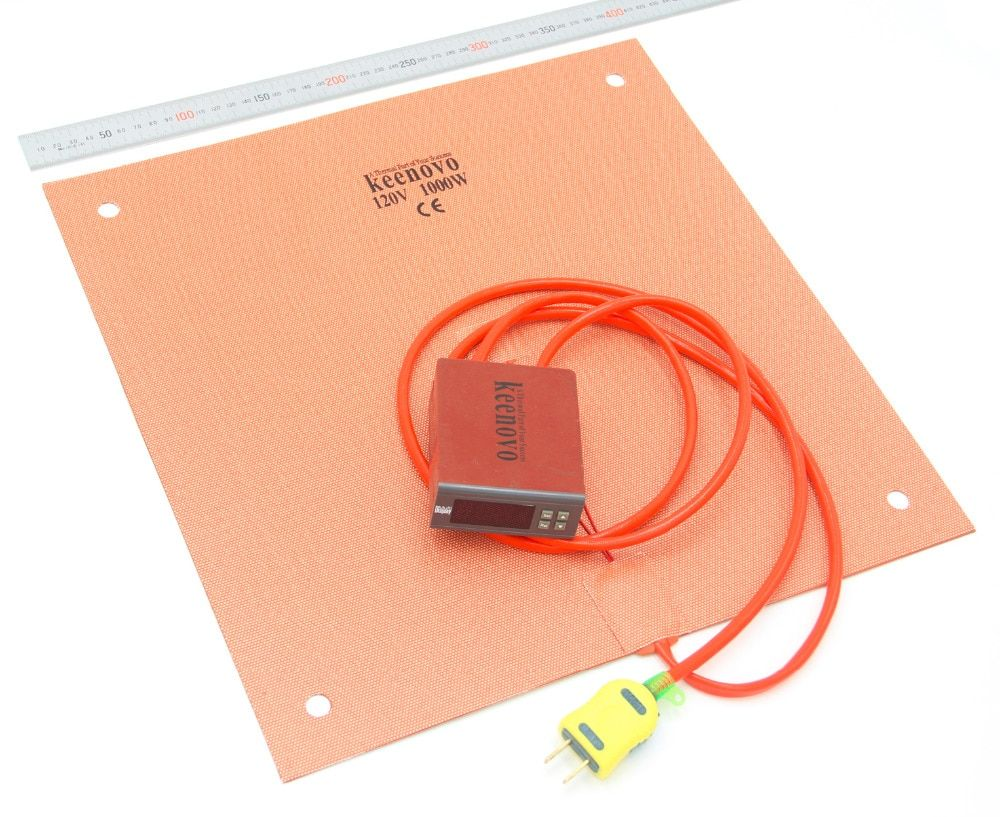 Keenovo Silicone Heater(400mm x 400mm 1000W) Creality CR-10 S4 3D Printer Heating Pad+Digital Controller