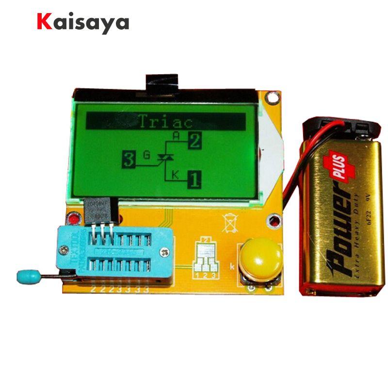 12864 LCD Transistor Tester Capacitance ESR Meter Diode Triode MOS NPN LCR Mega328 A4-002
