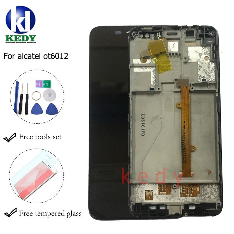 100% new For Alcatel One Touch Idol mini 6012 OT6012 6012A 6012D 6012W 6012X LCD Screen Display +Touch Digitizer Assembly +tools